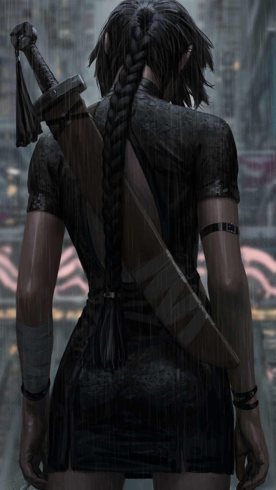 Warrior Girl iPhone Wallpaper