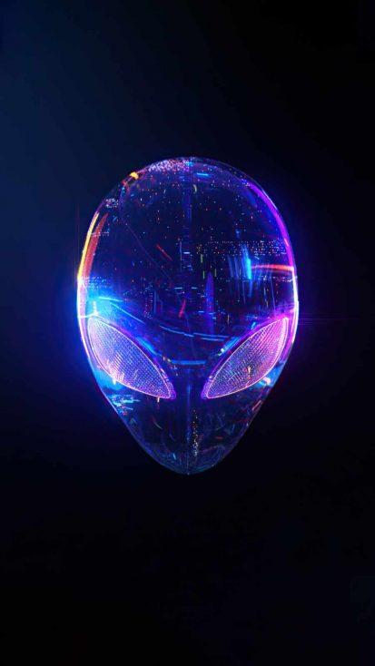 alienware skull iPhone Wallpaper