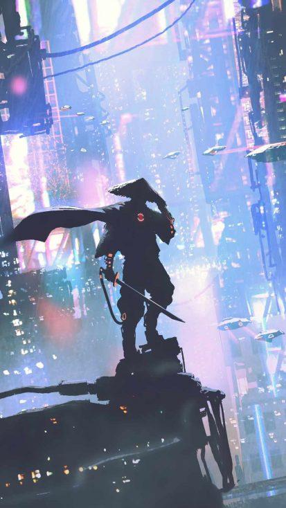 Cyber Samurai Warrior