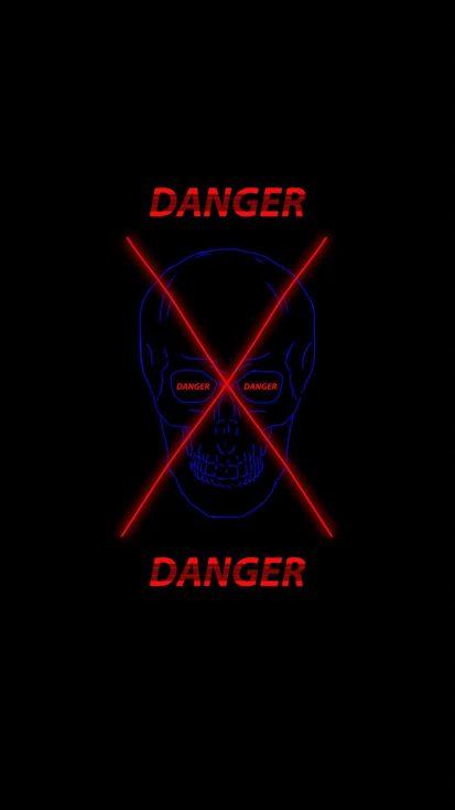 Danger Skull iPhone Wallpaper