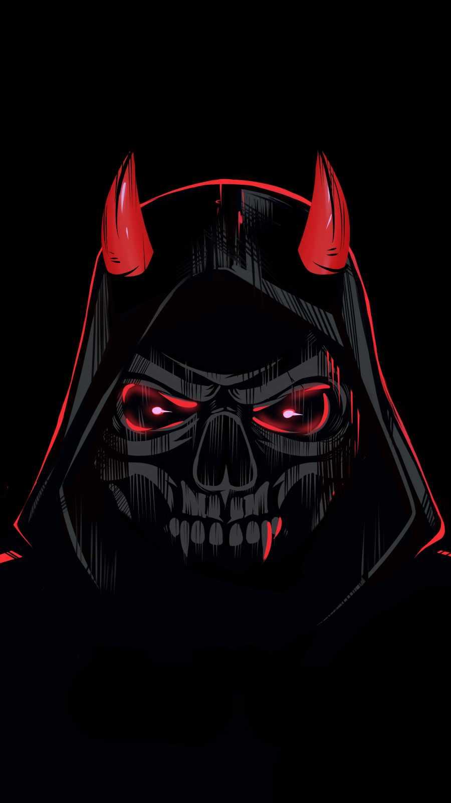 Devil in Hoodie iPhone Wallpaper