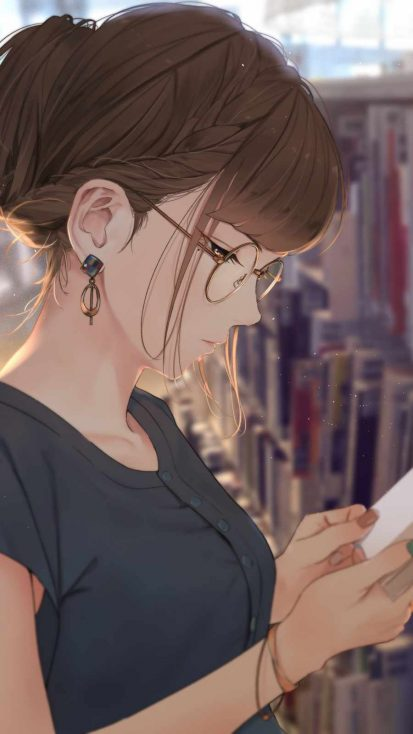 Girl with Glases Anime