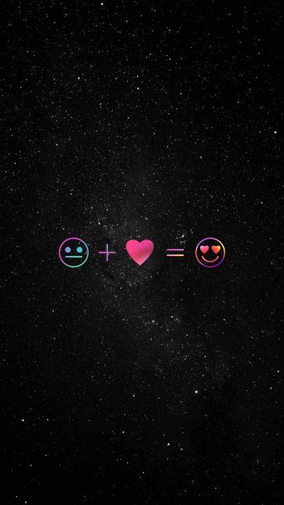 Love Universe iPhone Wallpaper