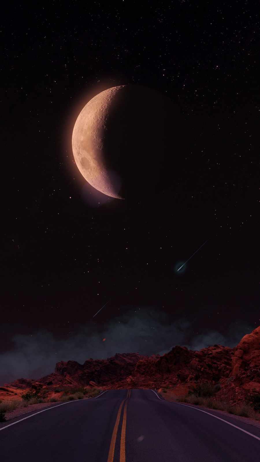 Moon Road Night