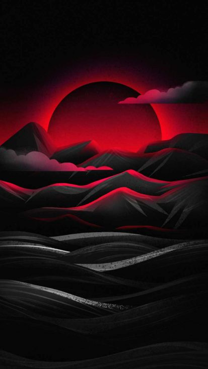 Mountains Art Sunrise