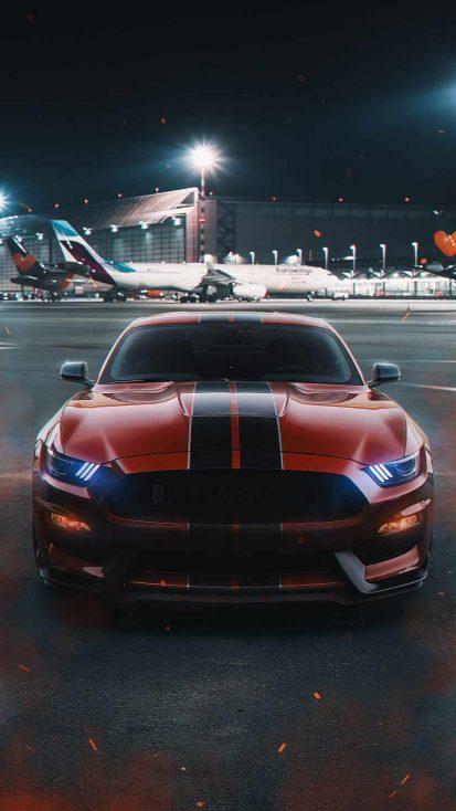 Mustang on Runway
