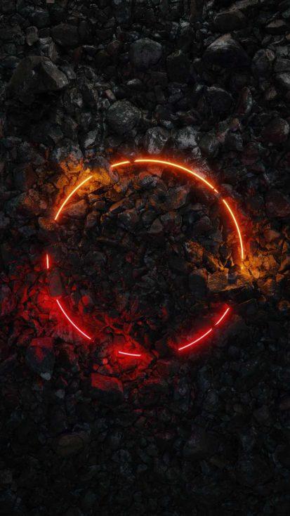 Neon Ring Stones Art