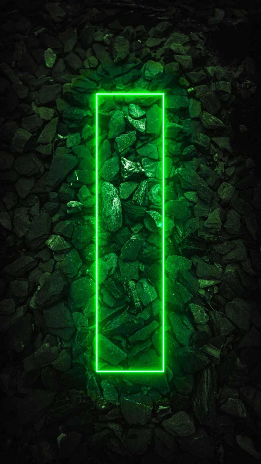 Neon Stone Rectangle