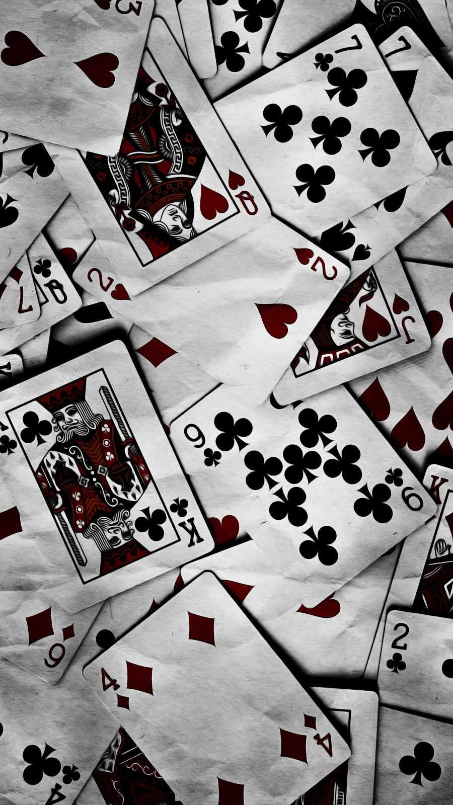 Poker Cards iPhone Wallpaper