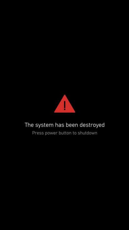System Destroyed