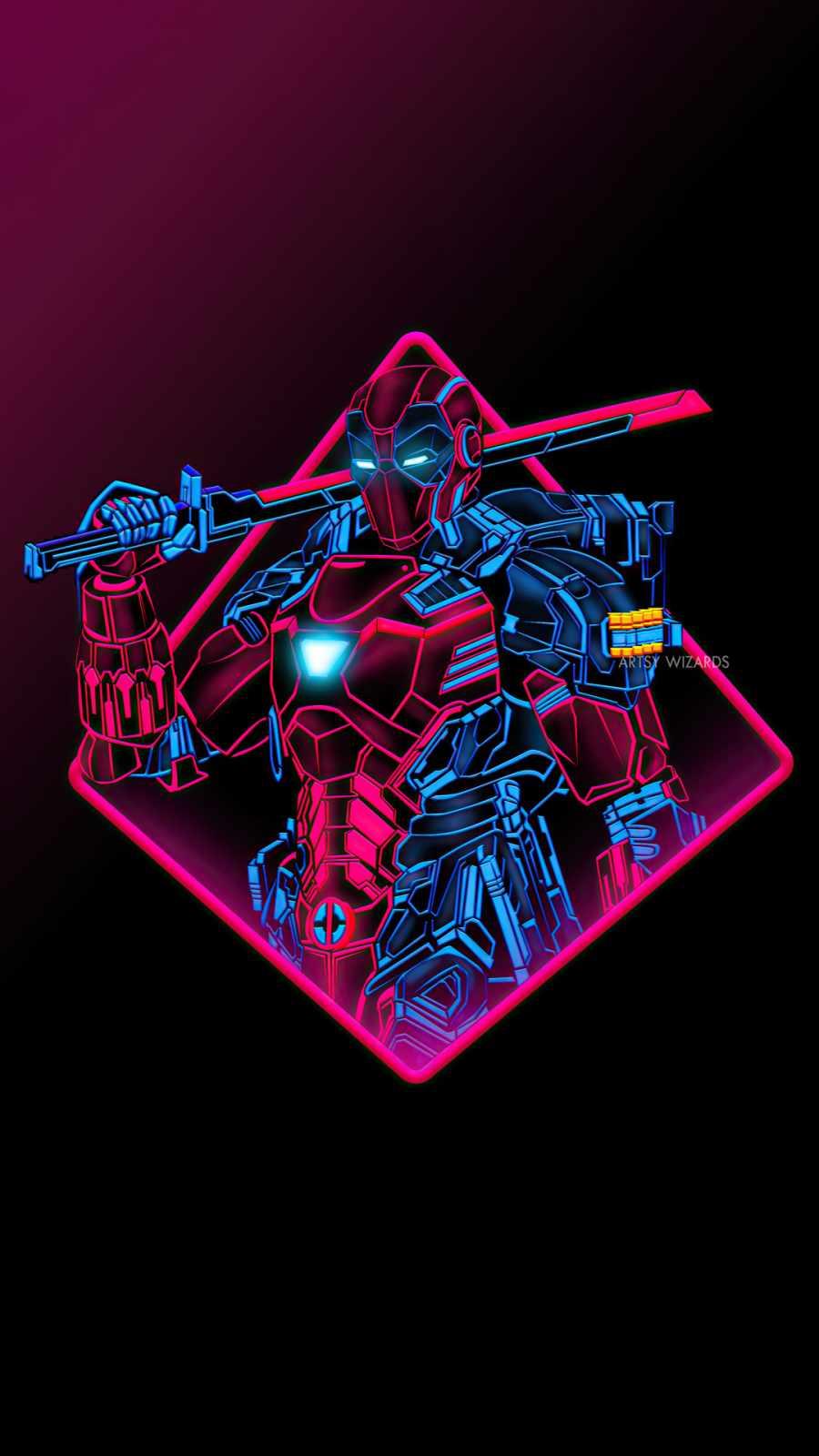 deadpool neon armor
