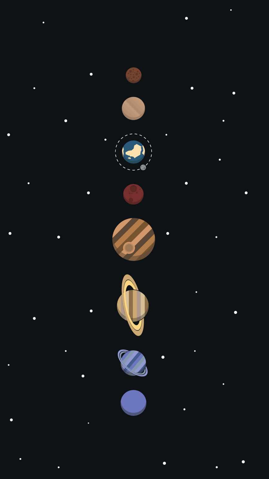 solar system minimalism