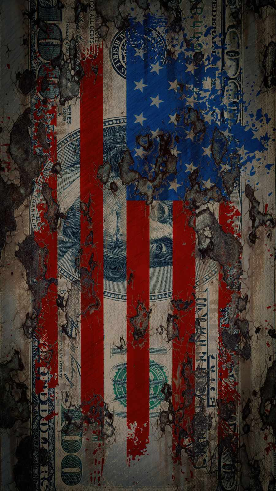 American Dollar iPhone Wallpaper