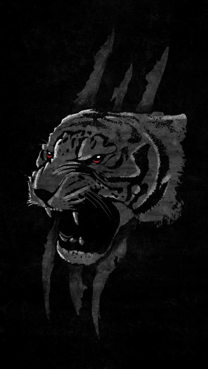 Angry Tiger iPhone Wallpaper