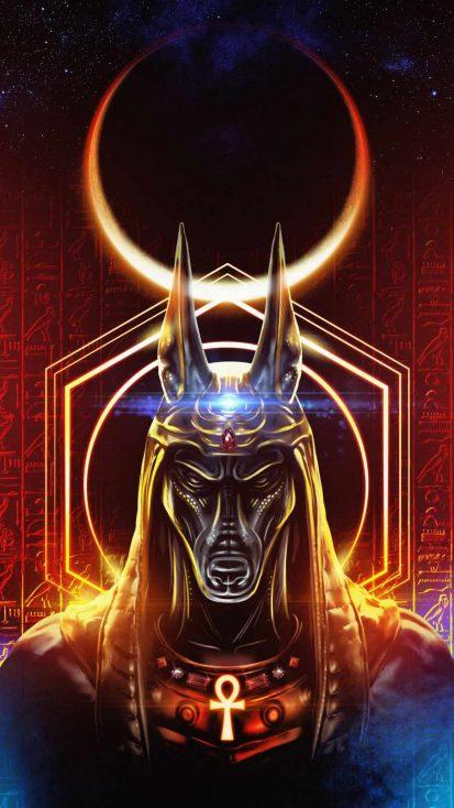 Anibus Egypt God iPhone Wallpaper