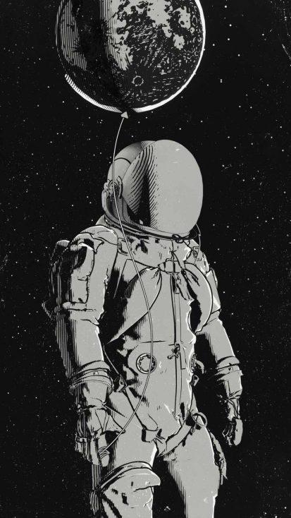 Astro Art iPhone Wallpaper