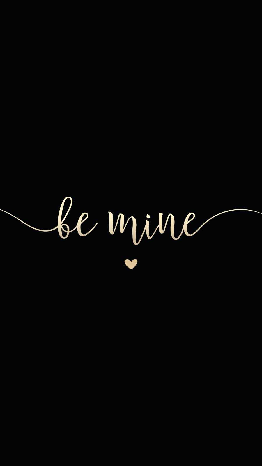 Be Mine iPhone Wallpaper