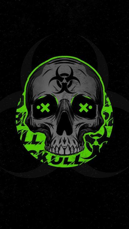Biohazard Skull iPhone Wallpaper
