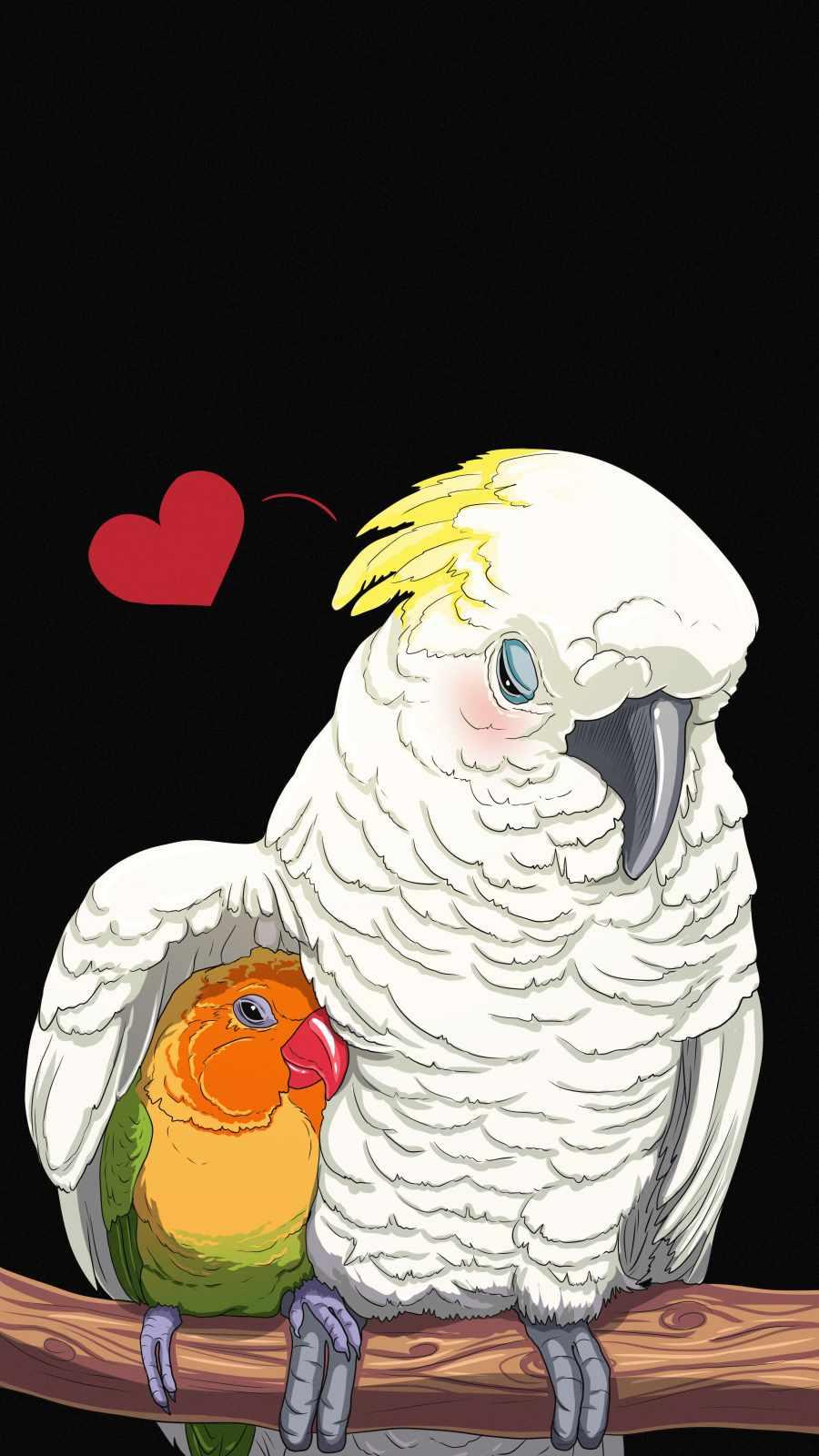 Bird Love iPhone Wallpaper