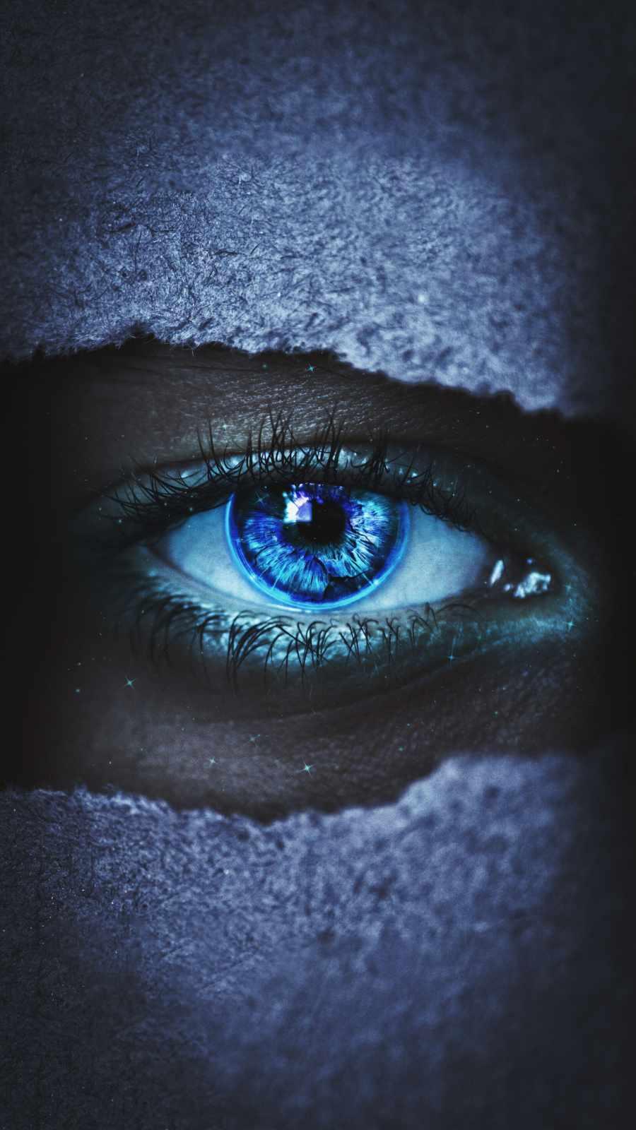 Blue Eyes iPhone Wallpaper