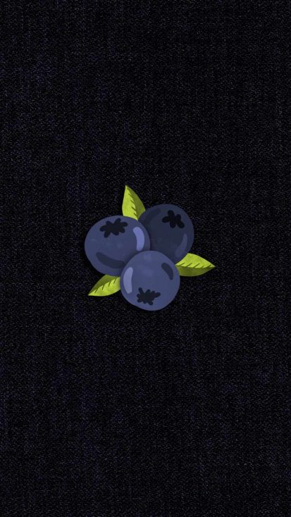 BlueBerries iPhone Wallpaper