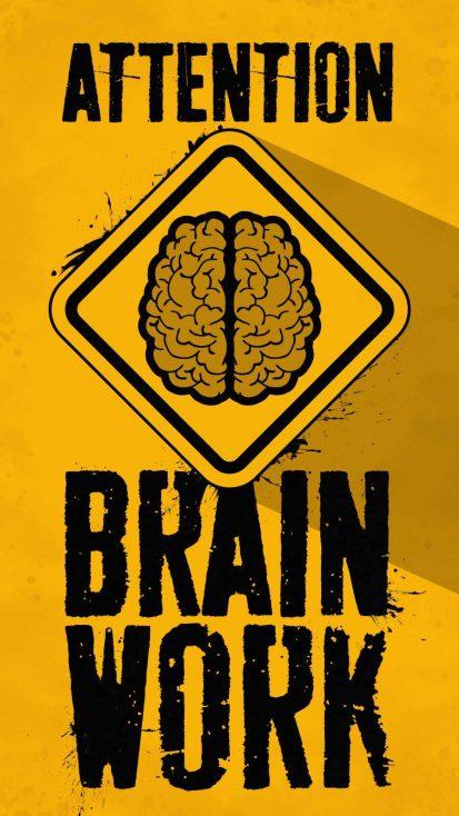 Brain Work iPhone Wallpaper