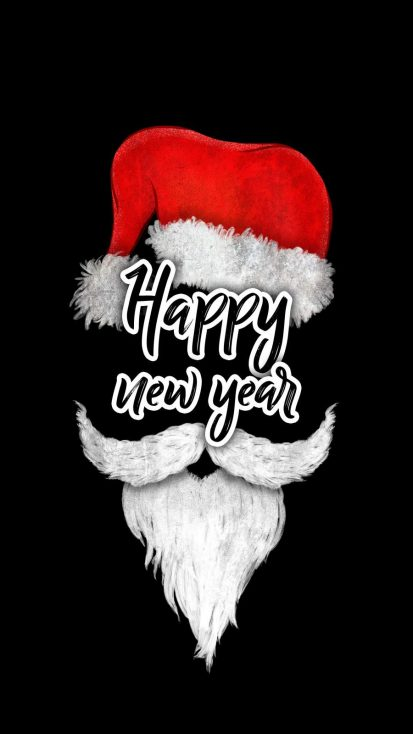 Christmas Happy New Year iPhone Wallpaper