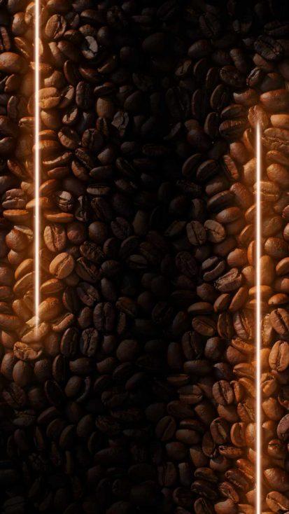 Coffee Neon iPhone Wallpaper