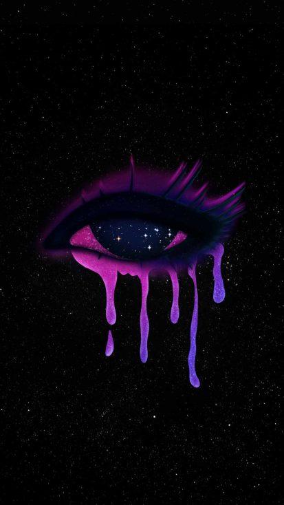 Crying Eye iPhone Wallpaper