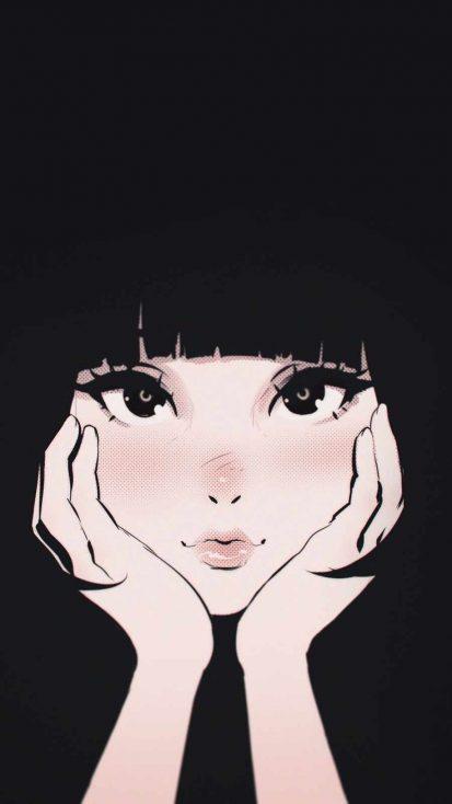 Cute Anime Girl iPhone Wallpaper