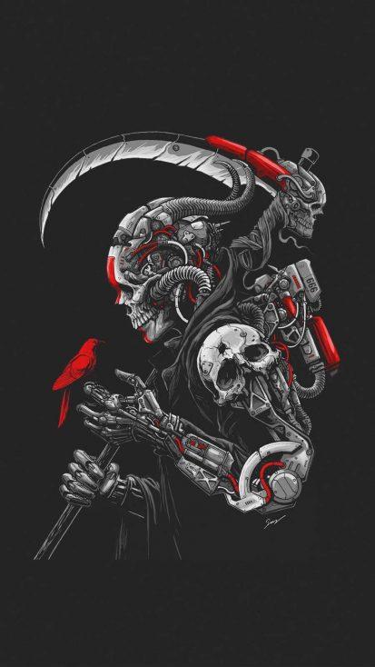Cyborg Death iPhone Wallpaper