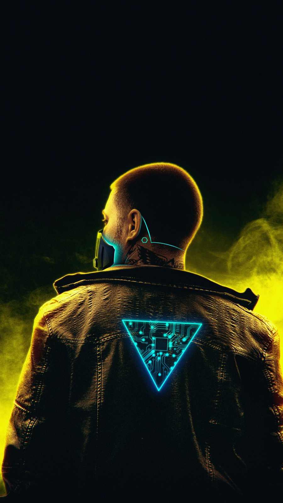 Cyborg Guy iPhone Wallpaper