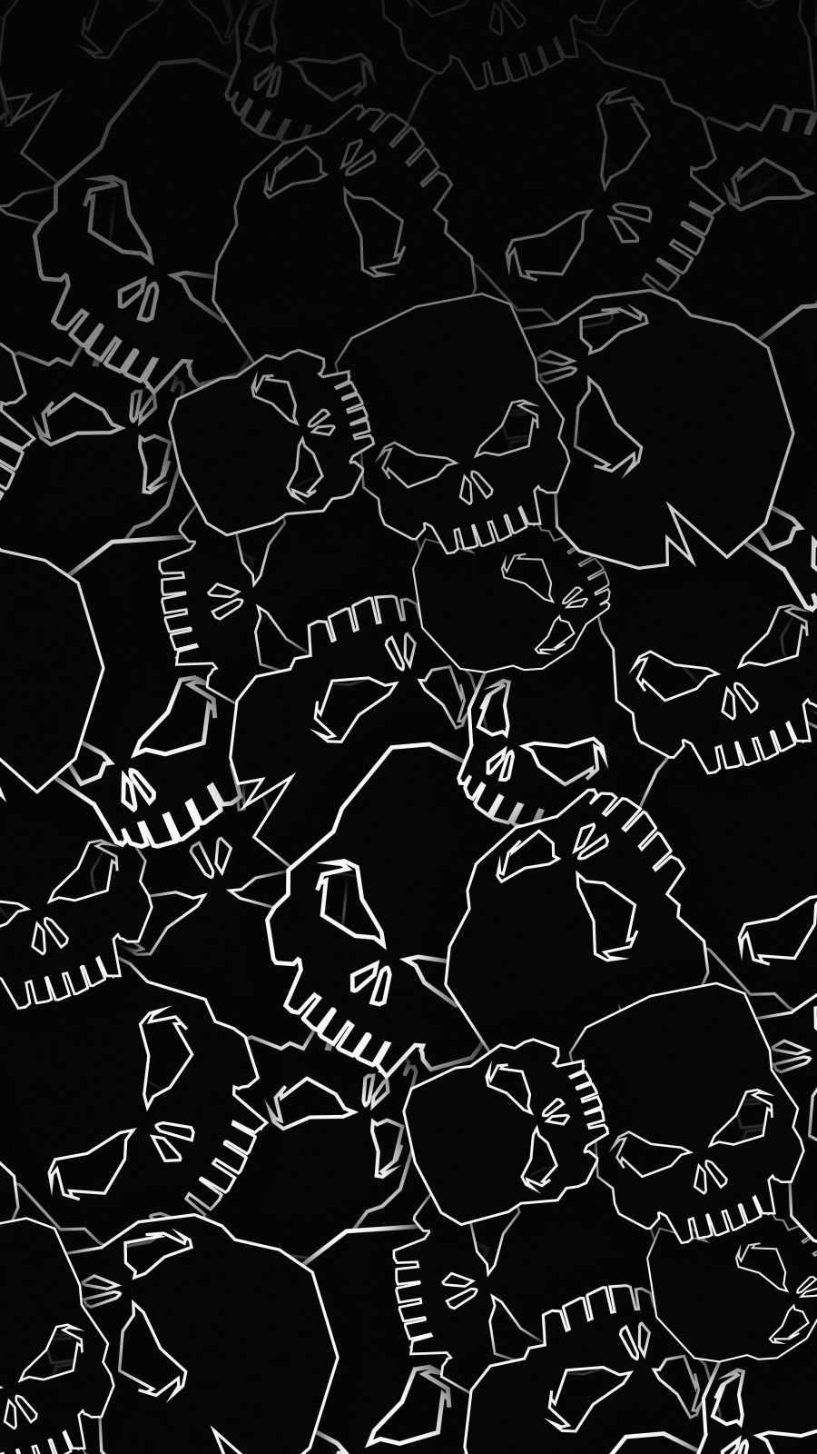 Dark Skulls iPhone Wallpaper