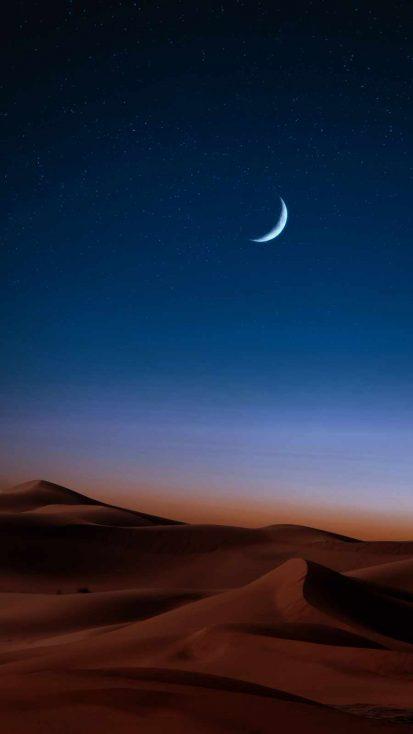 Desert Eclipse iPhone Wallpaper