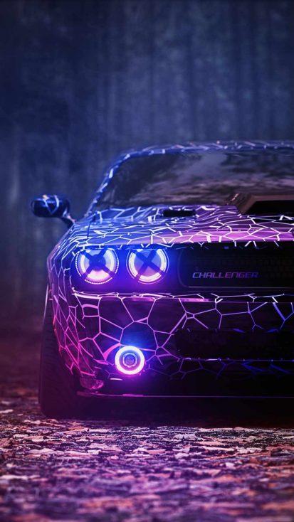 Dodge Challenger Projectors iPhone Wallpaper