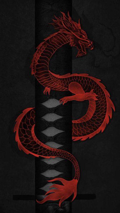 Dragon Sword iPhone Wallpaper