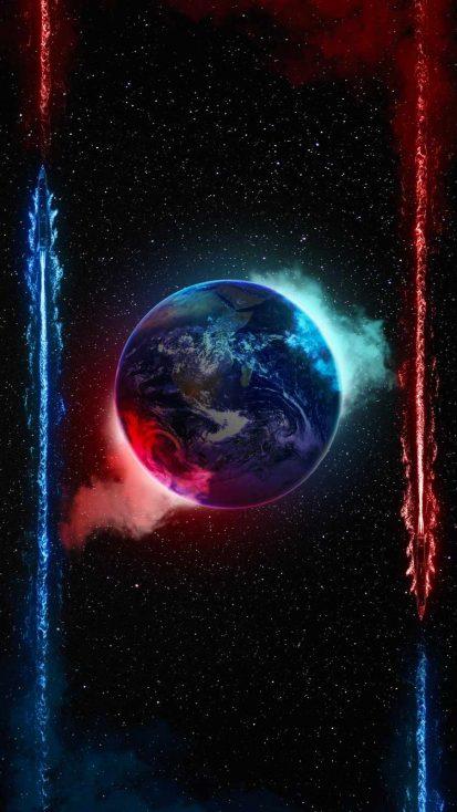 Earth Smoke iPhone Wallpaper
