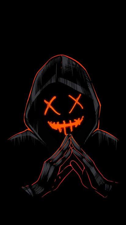 Evil Hoodie Guy iPhone Wallpaper