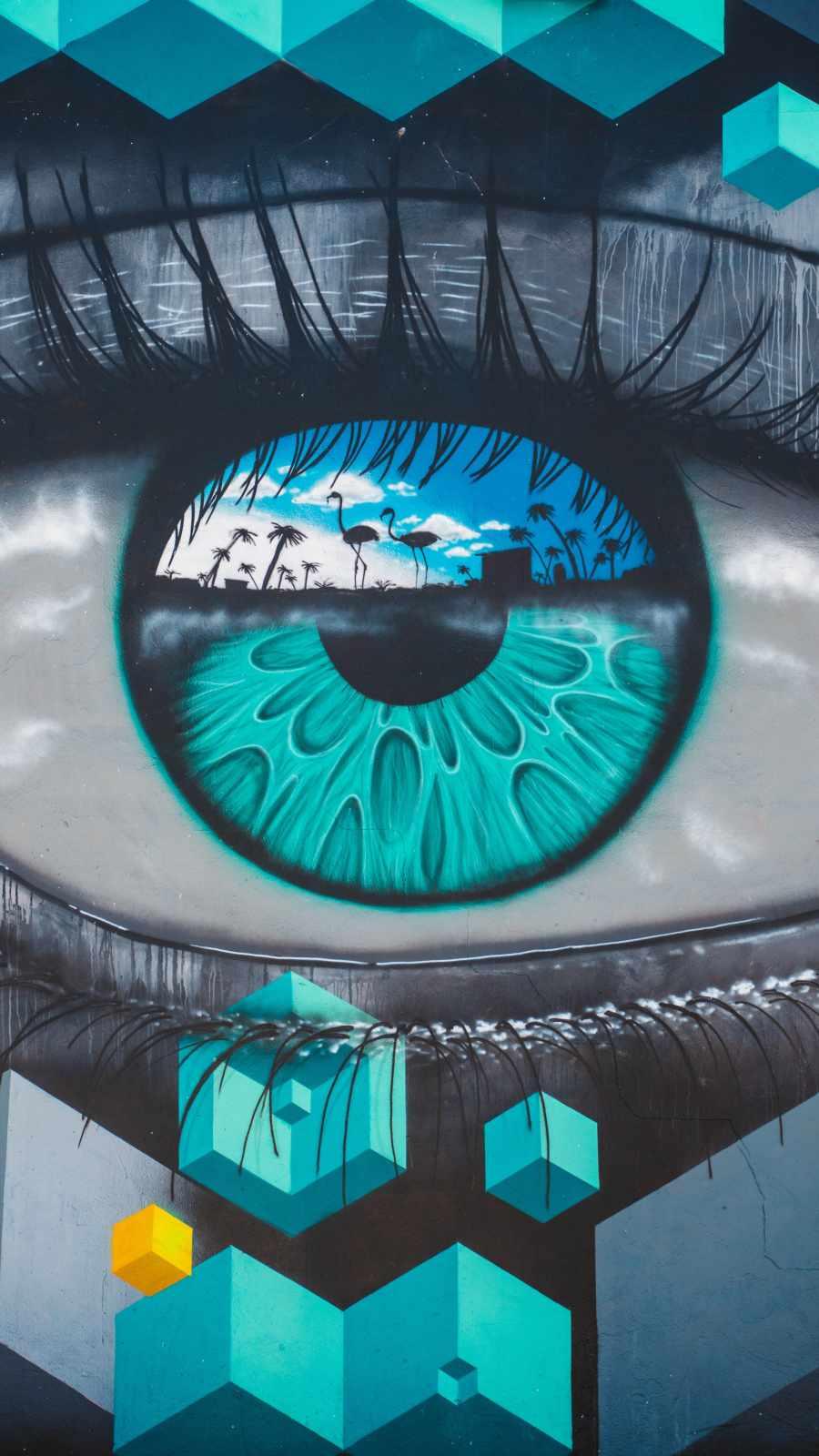Eye Art iPhone Wallpaper