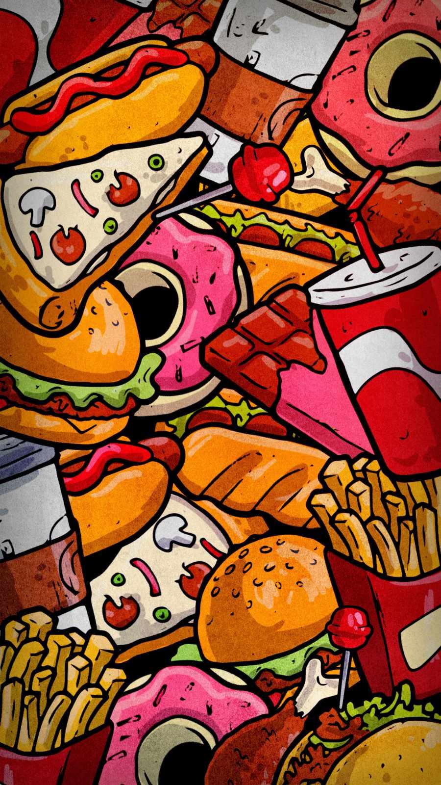 Fast Food iPhone Wallpaper