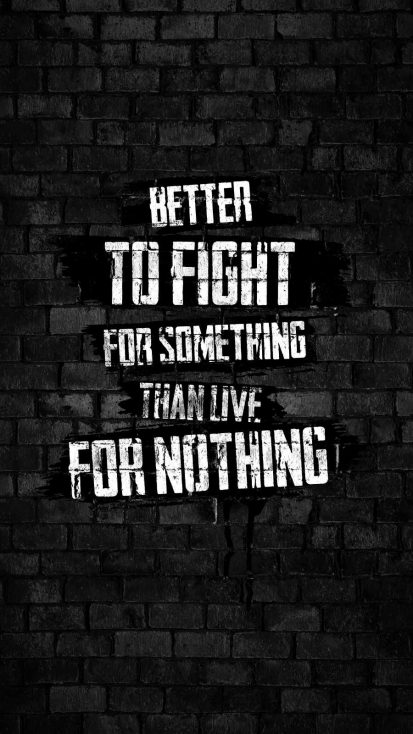 Fight for Something iPhone Wallpaper
