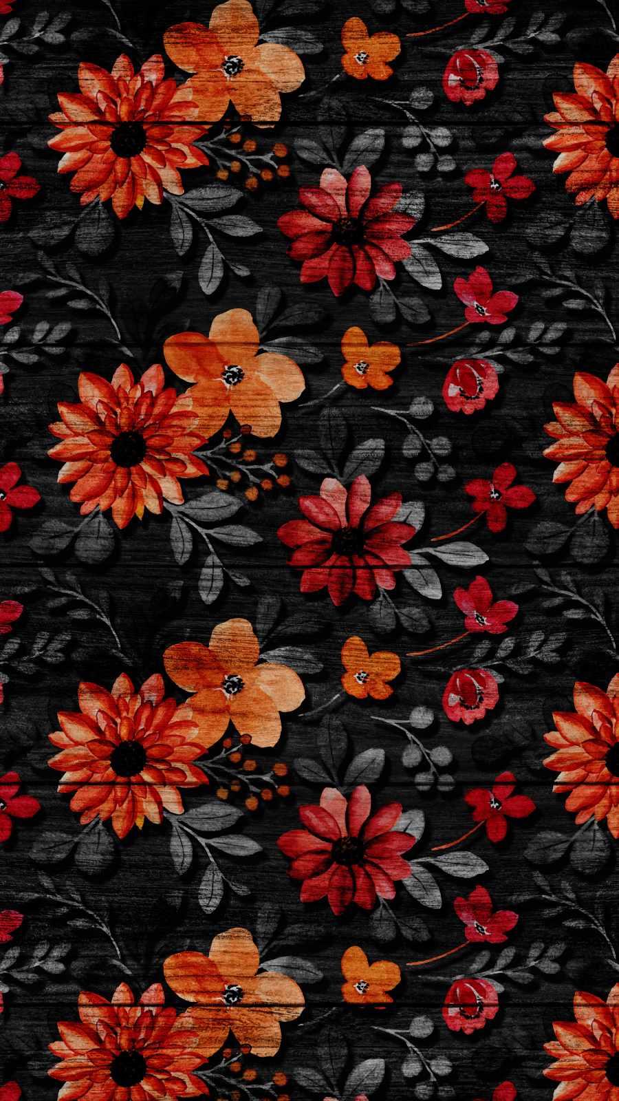 Flower art on Wood