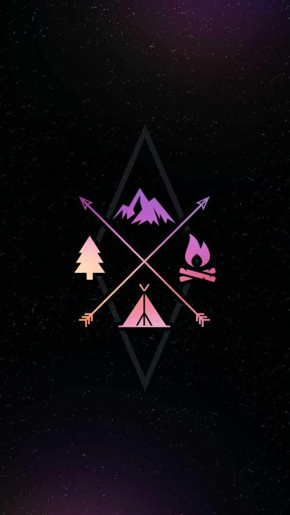 Forest Camping iPhone Wallpaper