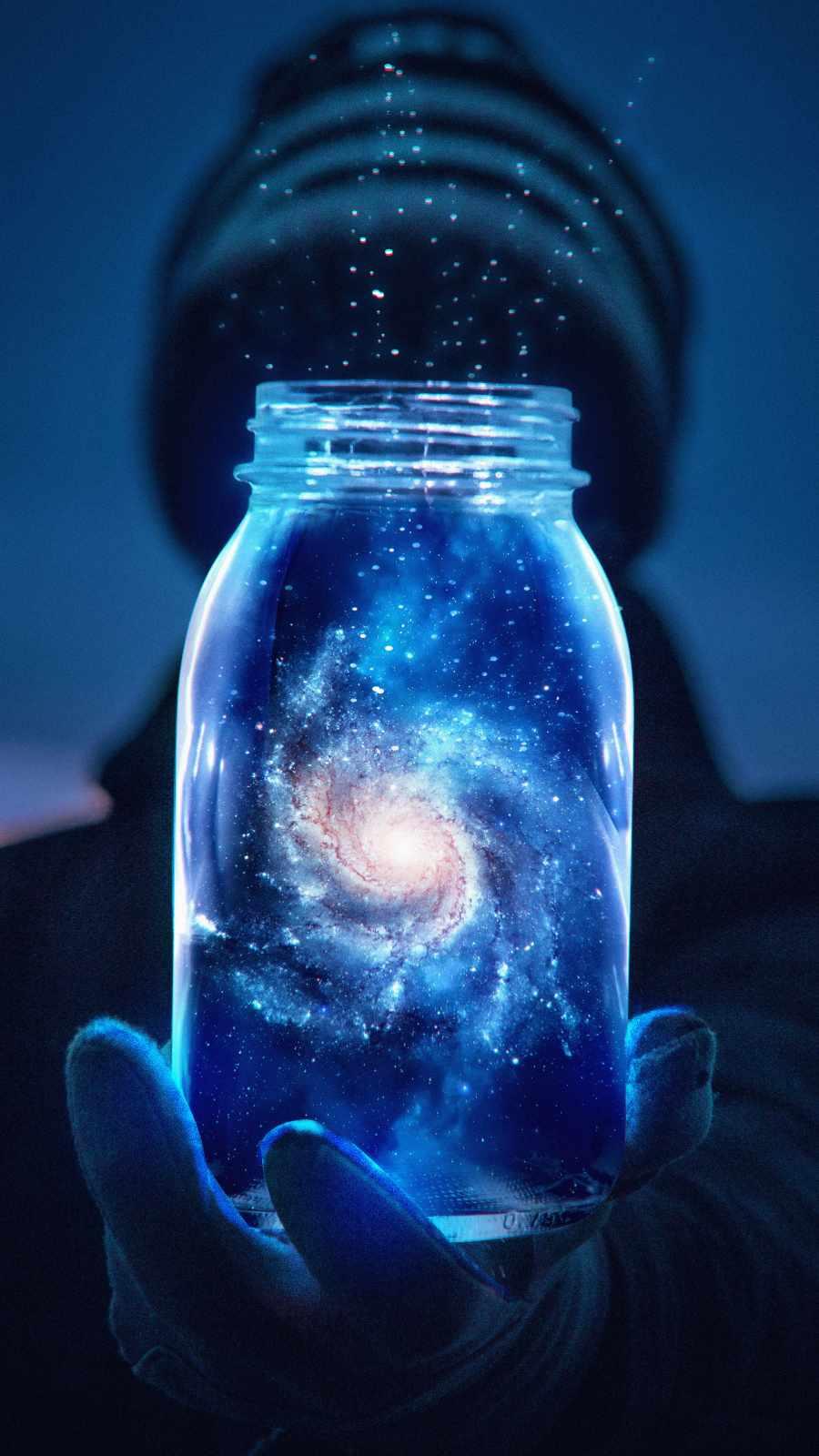Galaxy Jar iPhone Wallpaper