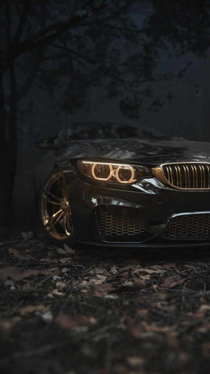 Gold BMW iPhone Wallpaper