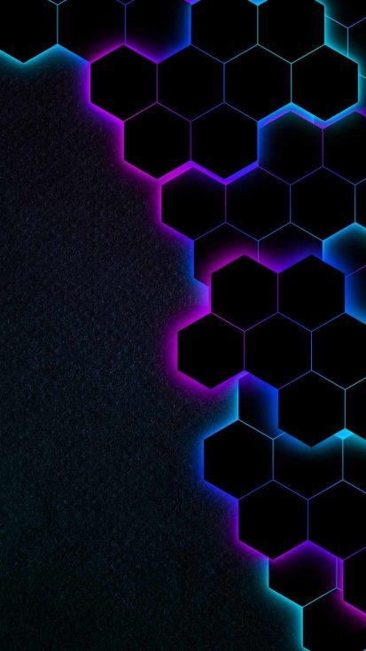 Hexagon Gradient iPhone Wallpaper