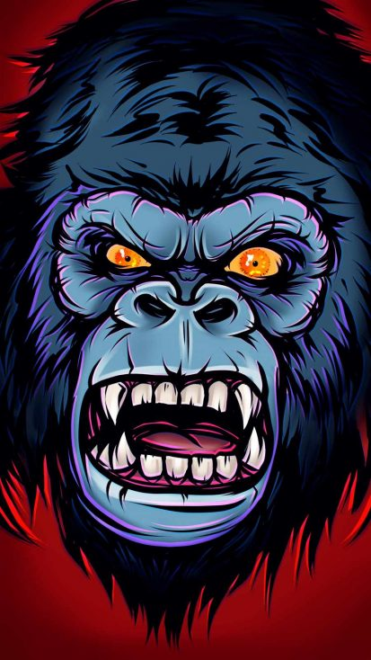 Kong Face iPhone Wallpaper