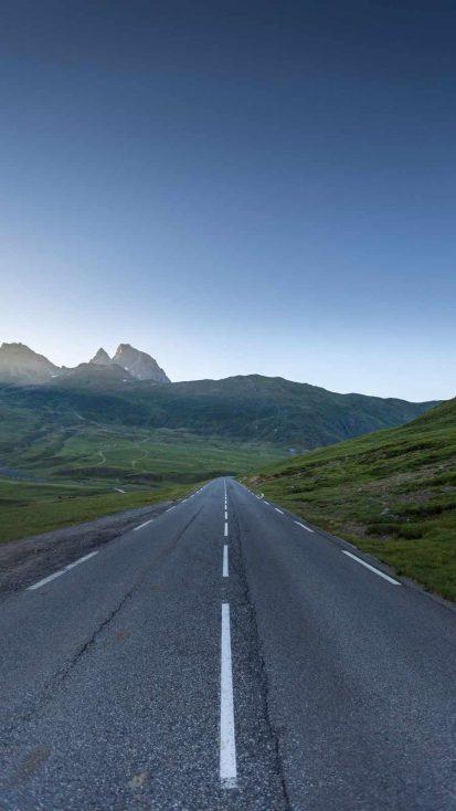 Morning Road iPhone Wallpaper