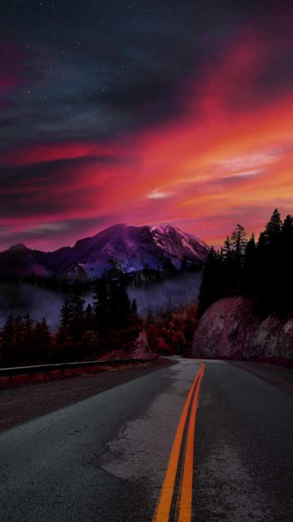 Mountain View Road iPhone Wallpaper