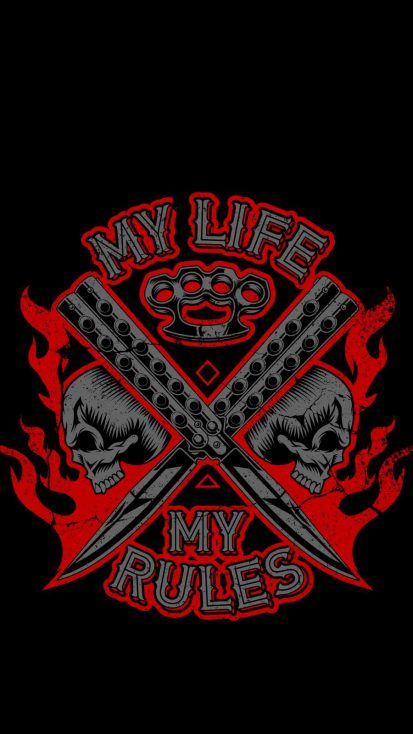 My Life My Rules iPhone Wallpaper